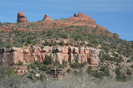 Sunny red rocks landscape in Sedon, northern Arizona.