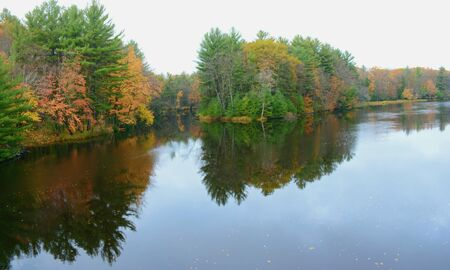 Foliage reflections on the Chippewa River - Wisconsin.