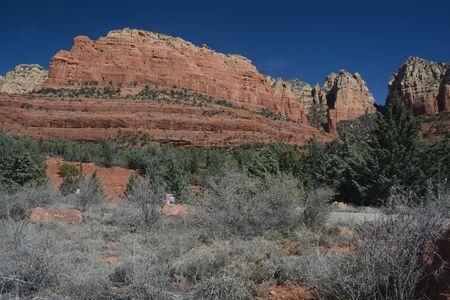 Finn Rock, an iconic red rock formation in Sedona, AZ.