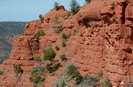 Colorful sandstone red rock formations in Sedona - AZ.