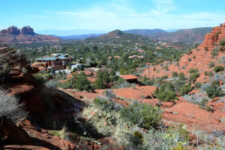 Panoramic view of the rural countryside in Sedona, AZ.