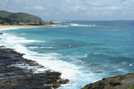 Seascape from the Halona Blowhole Lookout - Oahu, HI.