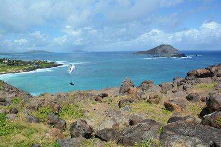 Pacific seascape from Makapu'u Point on Oahu Island. Banco de Imagens