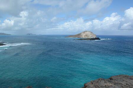 Pacific seascape on Makapu'u Point - Oahu Island, Hi. Banco de Imagens