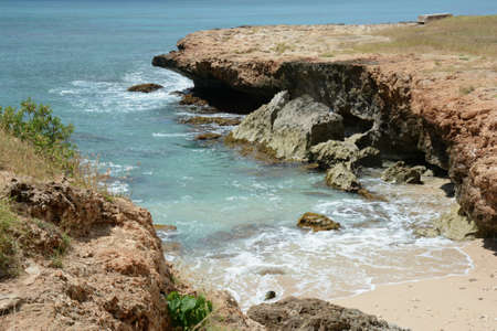 Black Rocks Beach.. Rustic scenic wayside along the west coast of Oahu Island, Hawaii.