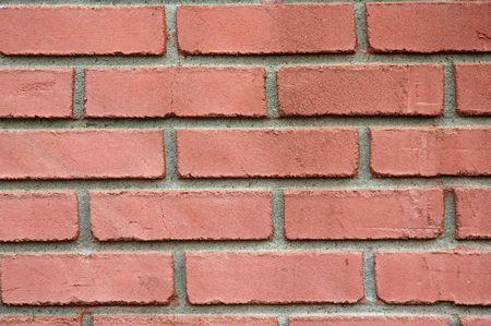배경으로 사용할 붉은 벽돌 벽 닫습니다 스톡 콘텐츠
