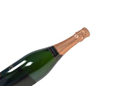 Champagne fles Stockfoto