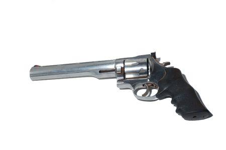 magnum: le revolver dacier inoxydable de 41 magnums isoalted Banque d'images