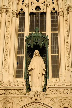 Statue of Jesus on catholic Mausoleum