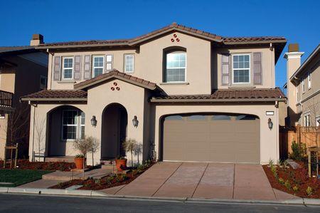 cladding tile: Modern California home Stock Photo