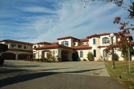 cladding tile: Executive custom house in Northern California