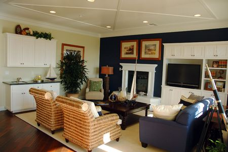 Modern California livingroom photo