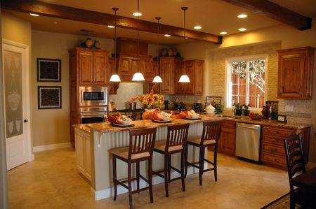 Modern kitchen in new development in Northern California