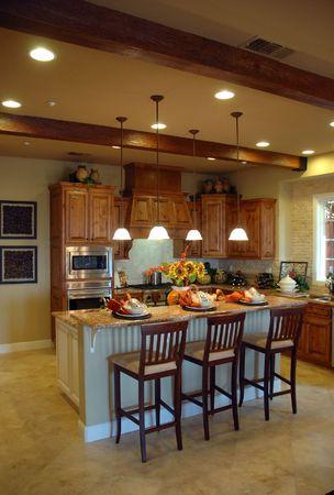 Modern kitchen in new development in Northern California photo