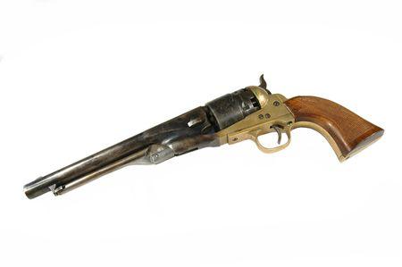 black powder: replica of an antique Black powder revolver