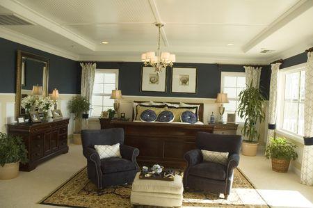Modern living room in California new home Stock Photo