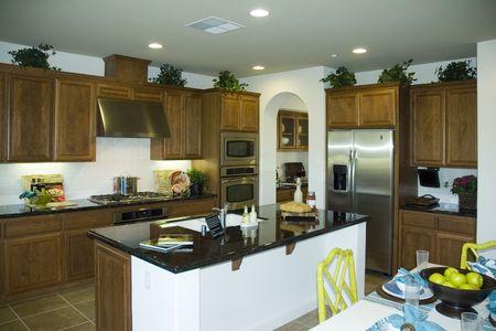 Modern kitchen in new development in Northern california Imagens