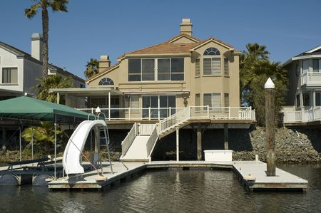 Executive home in a housing commuinity in Northern California with waterfront access to the delta photo