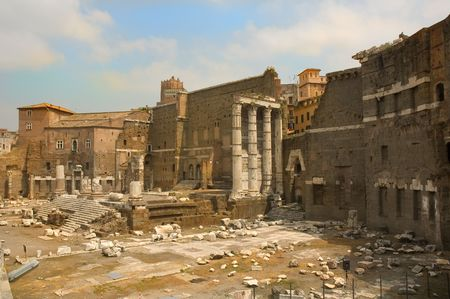 view of the Roman forum in Rome photo