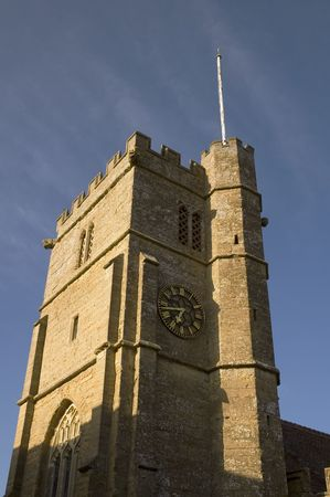 Norman style Church at Chideock in Dorset, England Stock fotó