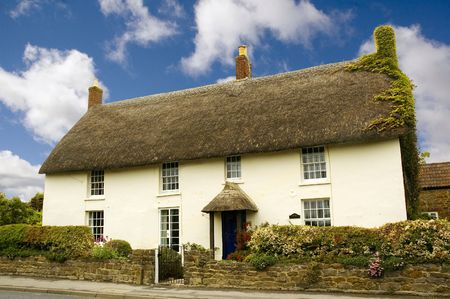 dorset: Cottage in the village of Chideock in Dorset, England