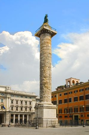 obelisk stone: View of Rome, Italy -  Stock Photo