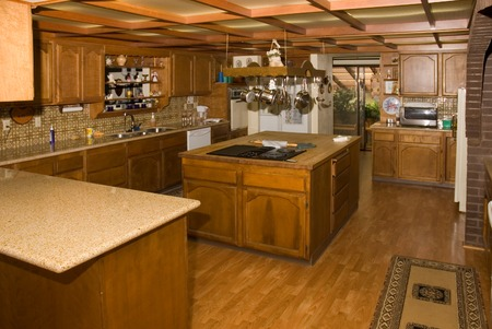 Large Country kitchen in an enormous home in Oregon Stock Photo - 1525333