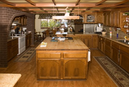 Country style kitchen in an large six bedroom home in Oregon