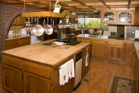country kitchen: Country kitchen in a very large home in Oregon Stock Photo