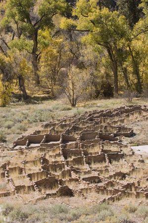 anasazi: Anasazi indian dwellings in Bandelier National monument