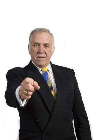 older businessman in a suit isolated on white Stock Photo - 2036953