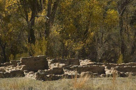anasazi: Antica Anasazi rupestri Bandolier al Monumento Nazionale