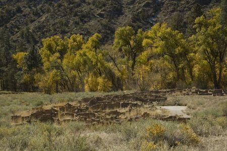 anasazi ruins: Ancient Anasazi dwellings at the Bandolier National Monument