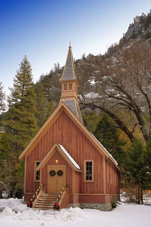 Small church in Yosemite National Park