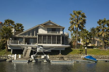 california delta: Executive home in a housing commuinity in Northern California with waterfront access to the delta with its own aircraft a seaplane
