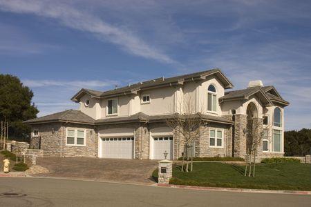 cul de sac: Executive mansion on cul de sac in Northern California  Stock Photo
