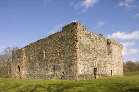 キンタイア、スコットランドのアーガイルにスキップネスで中世の城の遺跡