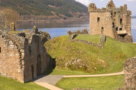 Urquhart Castle ruins at Loch Ness in Scotland, blown up in 1692 by the Clan Grant who owned it at the time, to stop it becoming a Jacobite stronghold photo