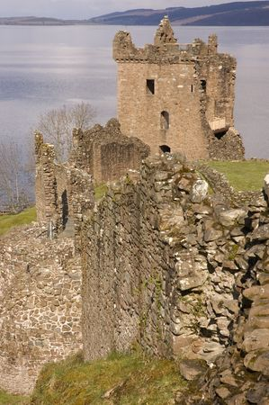 jacobite: ruins of Urquhart Castle, one of Scotlands largest, at Loch Ness, owned and blownup in 1692 by the Clan Grant to stop it becoming a Jacobite stronghold.