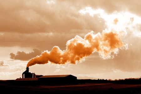 atmosphere: toxic waste fumes entering the atmosphere adding to global warming Stock Photo