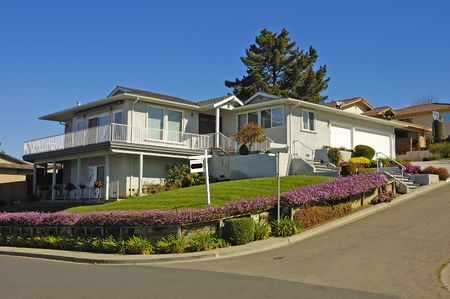 slump: Executive home in Northern California for rent due to economic slump Stock Photo