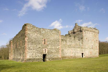 スコットランドの城の遺跡
