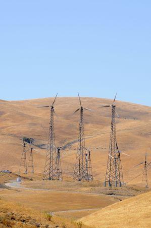 source: Alternate energy power source wind generator farm in California