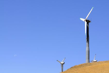 alternate: Alternate energy power source wind generator farm in California