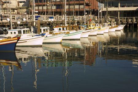 fishing fleet: Fishing fleet at harbor in San Francisco
