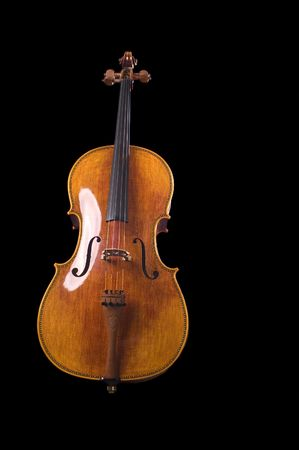 beautiful cello over a black background Stock Photo - 4434656