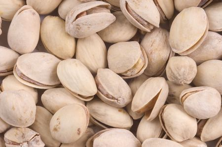 Pistachio nuts as a background
