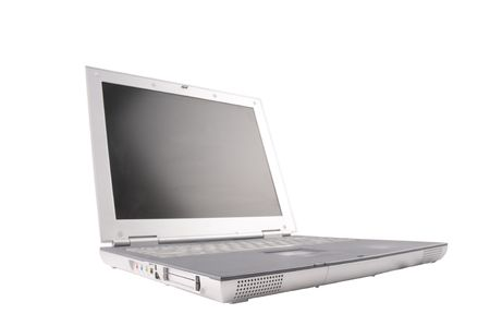 A laptop computer at an oblique angle with shallow depth of field