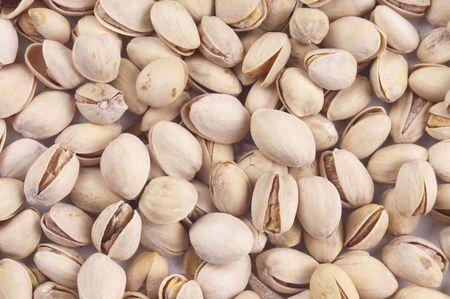 protien: Pistachio nuts as a background