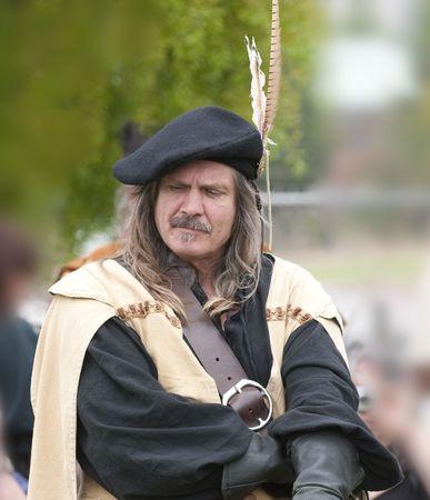 highlander: Highlander scozzese chieftan pensiero  Archivio Fotografico
